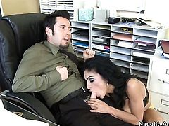 Tommy Pistol uses his rock hard pole to make Persia Pele with juicy tits happy