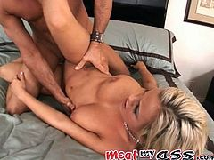 The hot and naturally busty blonde vixen Bree Olson is doing what she loves the most: getting her holes fucked.