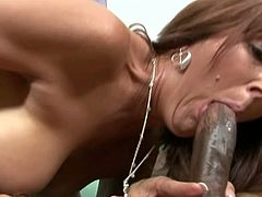Mature lady proves she still has what it takes to gets her pussy fucked hard by a black dong. Horny Milf lures black stud into sex, eats his cock and then opens her legs for that black cock1