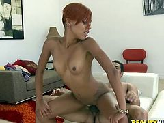 Looking for a gorgeous ebony babe, here you have the beautiful and sexy Tila Flame. Take a look at this chocolate hottie's great body while she's nailed.