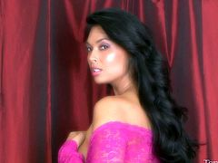 Tera Patrick looks good in her pink see through lingerie. She does a sexy dance with her ass in the air. She spreads her legs so you can see her sexy cunt. She pulls out her boobs for you to see. She looks so sexy.