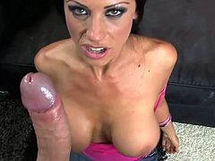 Lovely Tanya James knows her stuff when having to suck cock in pure POV