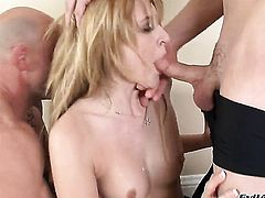 Katie Summers finds herself getting pounded in the back porch again