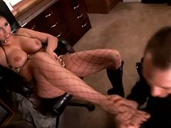 Watch this hot bitch as she blows the dude and fucking takes that hard motherfucking cock balls deep into her fucking snatch!