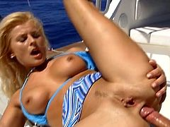 Sandra Russo gets her holes licked and fucked on a boat