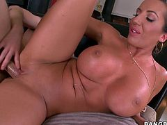 Big round tits and a perfect ass is what this blonde's packing. Have a look at this hardcore video as she shows them off before being fucked.