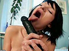 Teen Nova Black cant live a day without playing with her muff