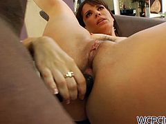 Super hot anal cougar Dana DeArmond is ready to take her first big black cock up the ass! Her tight asshole can barely fit it, but she enjoys it!