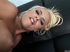 Alexis Monroe gives giving oral pleasure to hot dude