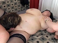 Four voluptuous lesbians go wild on a bed. They lick pussies and finger fuck each other. Enjoy watching insatiable bbw lesbians in Fame Digital sex tube video for free.