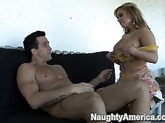 Shyla Stylez with huge jugs enjoys Billy Glides throbbing love stick deep inside her love box