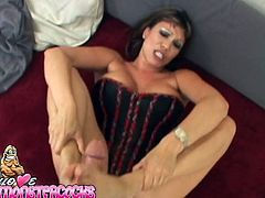 Curvy dark-haired mom Ava Devine is trying her best to satisfy this dude. She sucks and rubs his schlong devotedly and seems to enjoy it much.