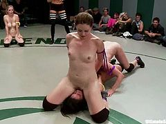 This is something that you don't see on ESPN. Ultimate Surrender is a challenge for the girls, who love lesbian sex and wrestling at a time.