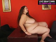Horny black dude that is into big fat white women picks up one at the parking lot. He talks her over to make porn with him. She easily agreed though. So enjoy watching filthy fat slut sucking BBC deepthroat.