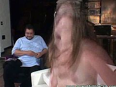 Chubby wife screwed while hubby watching