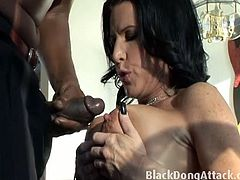 You gotta check out this really hot and kinky action where you will be seeing this really hot big tits babe Kendra Secrets in this hot action.This black dude fucks her hard and deep on the couch.