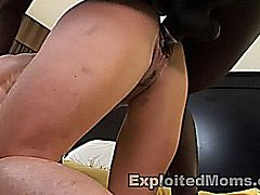 Muscle milf enjoying a black cock 1