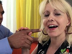 This woman needs a BBC to get full satisfaction. She takes her lover's massive dick in her mouth and sucks it greedily like mad.