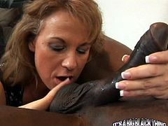 Stunning Summer is the name of this mature, one of the sluttiest matures you've ever seen! See her having fun with this big black cock!