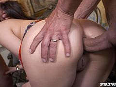 Spoiled hot chick Valentina Nappis loves doggy style sex