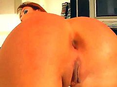 Young pretty redhead Regina Ica with natural boobs and smoking hot slim body in high heels only gets tight ass fingered while teasing lover and takes on his cock in pov.