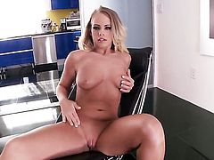 Prettied up chick Britney Young with moist twat goes solo