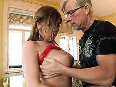 Stacked cutie Donna Bell enjoying the earth moving anal fuck with hot fuck buddy Christoph Clark