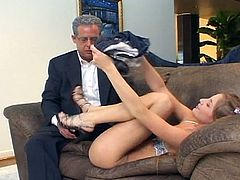 Check this lovely blonde coed as she gets spectacularly banged from both ends by her teacher and the dean. Then it's time for her ass and pussy to be blasted deep and hard into heaven.