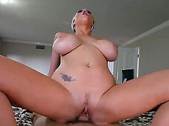 Katie Kox is a blondie with huge juggs. Today she is spending nice time in screw with Will Powers. The perverted man is going to fuck sweet fresh holes of the girlie so well.