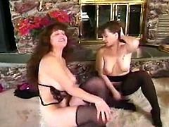 Mature women in pantyhose are going to have some perverted lesbian sex. Watching grannies is not the best thing to experience! But anyway some like it!