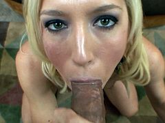 She gets quite nasty when having tasty cock drilling her warm mouth