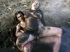 Damn, fucking a granny is already a fucking nasty thing! But fucking her in the mud is something that can make you throw up!