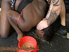 Courtesy of Ghetto Gaggers you can see the vicious ebony slut Porsha Star as she gets throatbanged by a white stud while assuming very hot poses in this free porn video. Then her pussy gets banged into heaven.
