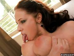 Brunette Gianna Michaels proves that her body is perfect as she masturbates naked
