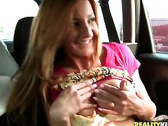 Blonde Alice Romain gets the pleasure from sucking Choky Ices man meat like never before