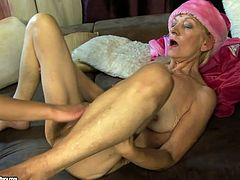 This old woman always gets what she wants. She spreads her legs wide and lets her lesbian friend eat her hairy snatch. Make sure you don't miss this hot lesbian sex scene.
