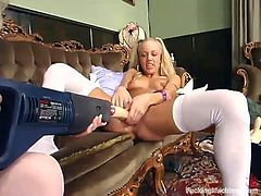 There are some girls that don't imagine having a lesbian sex without a fucking machine. Kylie Wilde and Summer Strom are the ones!