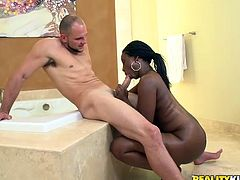 Intense sex scene with the thick ebony babe Black Belladonna