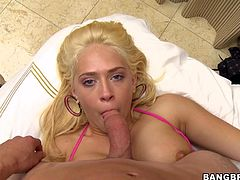 Watch the beautiful blonde Kagney Linn Karter being fucked silly after showing this guy her blowjob skills.