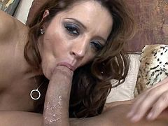 Big tits mom is pretty nasty when having to suck tasty cock in POV action