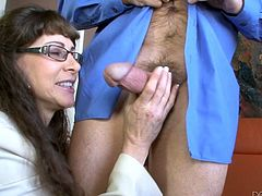 Alexandra Silk and Kara Price are playing dirty games with some dude. The mature bitch strokes the man's prick and then sucks it devotedly. Then the chick kneels in front of the man and sucks his schlong too.
