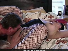 See this juicy BBW Kelly Shibari get wild in the bedroom with her loving husband. After the two 69, she gets her fat juicy pussy railed until cumming hard! What a dirty slut