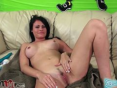 Oh, what a smoking hot siren Ashli Ames is! Babe gets naked and gets drilled so fucking hard! She is an amazing sex doll and she is so fucking perfect!