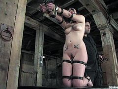 Andy San Dimas and Devaun in an amazing BDSM video. They get bounded and then toyed deep in their pussies. After that they also suck huge dildos.