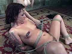 Apart from the strapon fucking action in this lesbian BDSM action video there's also going to be electrical torture and bondage.