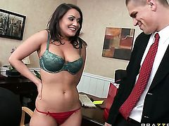 Bruce Venture fucks Senora Charley Chase as hard as possible in hardcore action