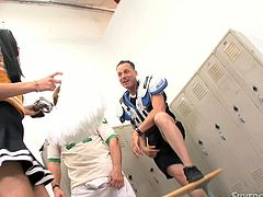 This lustful cheerleader chick has to work hard for this ones to satisfy two well-endowed dudes. Be pleased with one another threesome video from Fame Digital porn site.