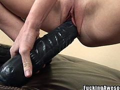 brandi needs a big black dildo inside her