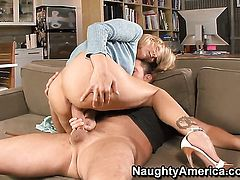 Julia Ann with massive breasts is the one horny guy Alec Knight loves to fuck