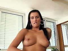 Melissa Ria opens her legs to fuck her thirsty pussy hole with toy